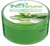 Betty's | Aloe Vera Gel | Geschikt voor gevoelige huid - Verzorgend organische gel - 92% aloe vera - Lichaamsgel  Gezichtgel - Handgel - 300 ml - Voordeelverpakking