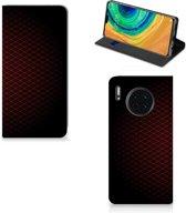 Huawei Mate 30 Hoesje met Magneet Geruit Rood