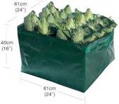 Groeizak voor groente hoog - 61 x 61 x 40 cm - set van 2 stuks