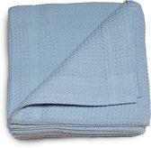 Damminga - Wafeldeken - Bedsprei - Zomerdeken - Hotelkwaliteit - 180 x 250 - Eenpersoons - Blauw