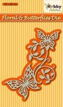 Snijmal en embossingmal HSDJ003 rand vlinders en bloemen