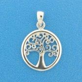 The Jewelry Collection Hanger Levensboom - Zilver Gerhodineerd