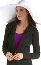 Coolibar UV flaphoed Dames - Wit - Maat 58cm