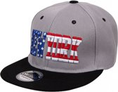 Snapback pet New York grijs