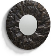 Kave Home Karlo Spiegel - 77cm diameter - antiek brons afwerking