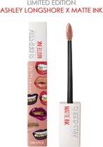 Maybelline Superstay Langhoudende Lippenstift - Matte Ink x Ashley Longshore - 05 Loyalist - Roze - Limited Edition
