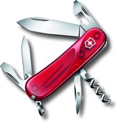 Victorinox Evolution 10 Zakmes - 13 Functies - Transparant Rood