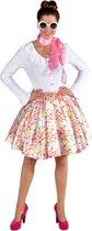 Rock & Roll Kostuum   Snoep Hartjes Sweet Heart Rok Vrouw   Small / Medium   Carnaval kostuum   Verkleedkleding