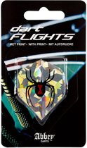 Abbey Darts Flights - Zilver/Zwart/Rood