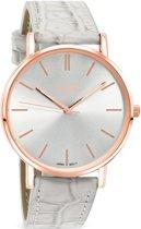 Regal Slimline R1628r-18 - Horloge - Leer - Grijs - 39 mm