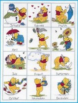 borduurpakket H12 winnie the pooh, twaalf maanden-1