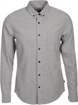 Only & sons stevig zacht grijs slim fit overhemd - Maat S