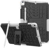 Let op type!! Band textuur TPU + PC schokbestendig geval voor iPad Air 2019/Pro 10 5 inch  met houder & pen slot (wit)