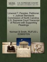 Linwood T. Peoples, Petitioner, V. Judicial Standards Commission of North Carolina. U.S. Supreme Court Transcript of Record with Supporting Pleadings