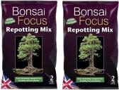 2 zakken Bonsai Focus Repotting Mix á 2 Liter   De beste aarde voor gezonde Bonsai