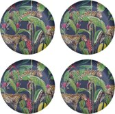 4 x Bamboe Ontbijtbord 21 cm Panter Wild Jungle Stories