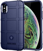 Full Coverage Shockproof TPU Case voor iPhone XS Max (blauw)