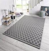 Design vloerkleed Chain - grijs/crème 200x290 cm