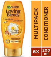 Garnier Loving Blends  Conditioner - Argan & Camelia - 6 x 200 ml - Voordeelverpakking