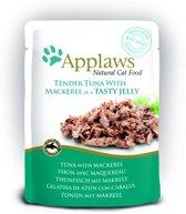 Applaws cat jelly tuna wholemeat / mackerel kattenvoer 70 gr