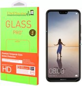 DrPhone Huawei P20 Lite Glas - Glazen Screen protector - Tempered Glass 2.5D 9H (0.26mm)
