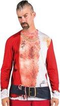Foute Kerst T Shirt Sexy Kerstman 3D fotoprint in de maat L/ XL