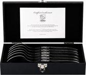 Laguiole Style de Vie Luxury Line Lepels – Zwart Ebbenhout