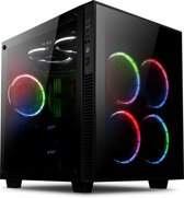 anidees AI-Crystal-Cube-RGB version cube tempered glass ATX Mid Tower Behuizing -Zwart RGB