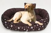XXL Hondenbed van kunstleer - hondenkussen hondensofa kattenbed hondenkorf - waterdicht 110 X 80 cm