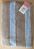 Marieke at Home Natural Stripe - 70x140 cm - blue