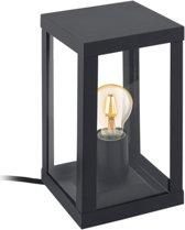EGLO Vintage Alamonte 1 - Buitenverlichting - Tafellamp - 1 Lichts - Zwart