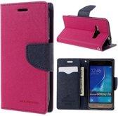 Samsung Galaxy J1 2016 Hoesje Roze met Opbergvakjes