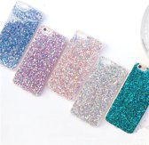 iPhone 7 / 8 - TPU / siliconen glitter hoesje - roze