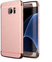 Colorfone PREMIUM BackCover 3 in 1 / Cover / Hoes / Case voor de Samsung Galaxy S7 Edge Roze Rose Goud
