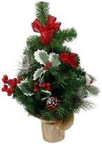 Kunst kerstboom met versiering kerst decoratie 50 cm