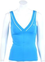 Nike Smash Classic Tank - Sporttop -  Dames - Maat S - Intens Blauw;Wit