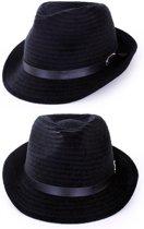 Kojak hoedje zwart met zwarte band