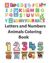 Letters and Numbers Animals Coloring Book