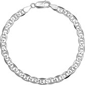 The Jewelry Collection For Men Armband Anker Plat 5,5 mm - Zilver