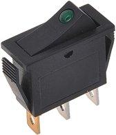 Proplus Wipschakelaar LED groen 12V / 24V-max. 10A