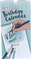 Birthday Calendar Lettering enkelzijdig