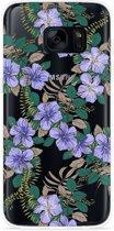 Galaxy S7 Hoesje Purple Flowers