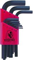 Bondhus Haakse inbusset 1.5-10mm kort HLX9MS