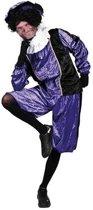 piet velours paars / zwart mt l