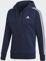 adidas Essentials 3Stripes FZ B Sportshirt Heren - Collegiate Navy/White
