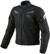 JET - Motor Motorfiets Jacket Textiel - Protectie Multi Functional Zwart (M (38 - 40 ))