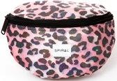 Spiral Platinum Heuptas - Pink Shimmer Leopard