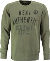 Garcia zachte groene sweater - Maat S