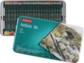 Derwent Artists 36 kleurpotloden in blik