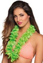 Luxe groene Hawaii ketting voor volwassenen - Verkleedattribuut